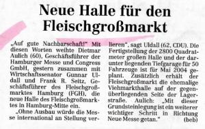 16. Oktober 2003 Hamburger Abendblatt