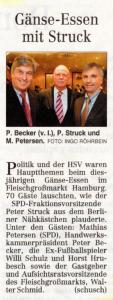 20. Dezember 2008 Hamburger Abendblatt