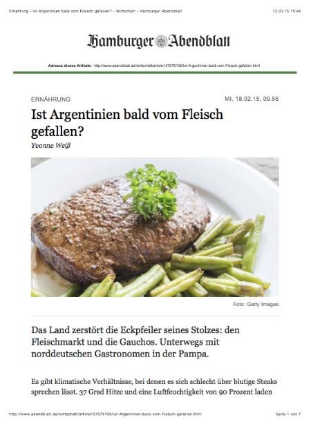 Hamburger Abendblatt 18. Februar 2015