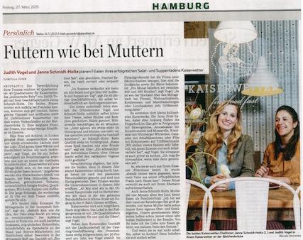 Hamburger Abendblatt 27. März 2015